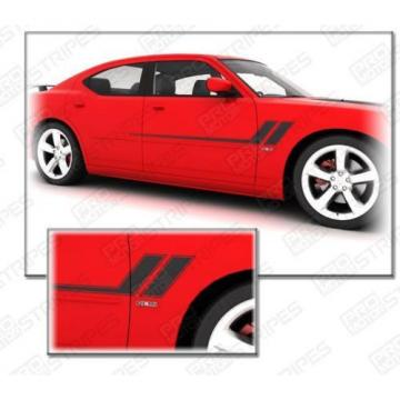 Dodge NEEDLE ROLLER BEARING Charger  2006-2010  Hash  Track  Side Accent Stripes Decals (Choose Color)