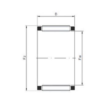needle roller thrust bearing catalog K28x32x21 ISO