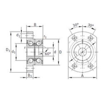 angular contact ball bearing installation ZKLFA1050-2Z INA