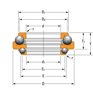 DTVL angular contact thrust ball bearing. N-3214-A