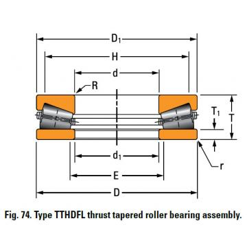 TTHDFL thrust tapered roller bearing G-3304-B