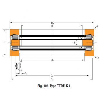 THRUST ROLLER BEARING TYPES TTDWK AND TTDFLK T660FA Thrust Race Single
