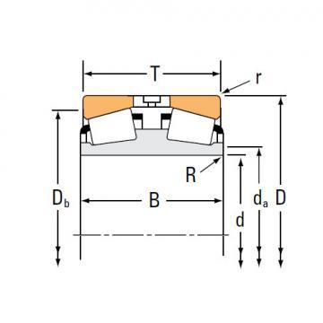 TDI TDIT Series Tapered Roller bearings double-row EE736173D 736238