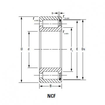 CYLINDRICAL ROLLER BEARINGS FULL COMPLEMENT NCF NCF1844V