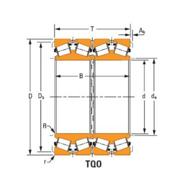 four-row tapered roller Bearings ee210700d 211300