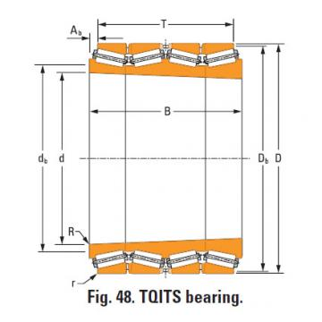 four-row tapered roller Bearings tQitS lm286433T lm286410 single cup
