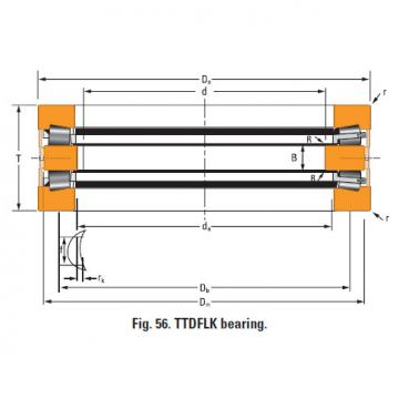 TTdFlk TTdW and TTdk bearings Thrust race single T1080fa