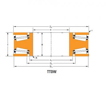 TTdFlk TTdW and TTdk bearings Thrust race double d-3637-a