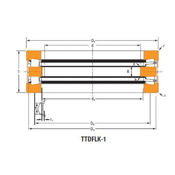 TTdFlk TTdW and TTdk bearings Thrust race double T6110f