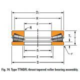 TTHDFL thrust tapered roller bearing T45751