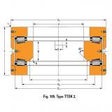 THRUST ROLLER BEARING TYPES TTDWK AND TTDFLK T7020 Thrust Race Single